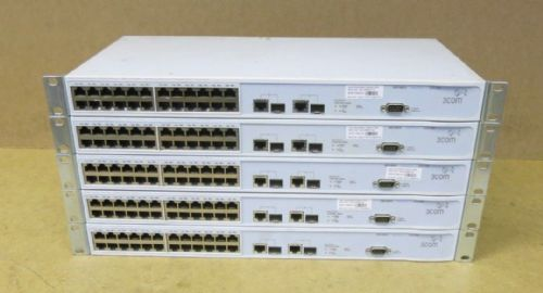 5 x 3Com SuperStack 24 Port Network switch 3226 3CR17500-91 175009-110-000-01